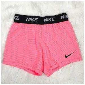 Nike Little Girls Striped Dri FIT Shorts NWT